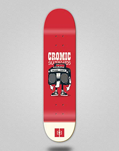 lordofbrands Monopatín Skate Skateboard Deck Cromic Party Radio (8.0)