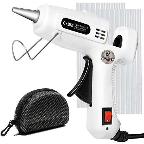 Hot Glue Gun with Glue Sticks-360° with 25W Mini Hot Melt Glue Gun Kit