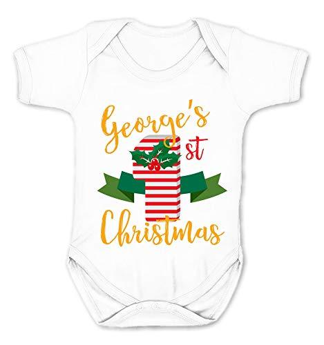 Grenouillère personnalisée pour enfant « My 1st Christmas » (Blanc, 0-3 mois)