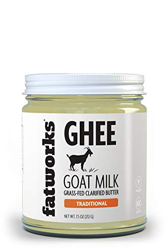 Fatworks Fine Filtered 100% Grass-Fed Goat Milk Ghee, Pasture Raised on Small Family U.S. Farm. KETO, PALEO, WHOLE 30 APPROVED, 7.5 oz.