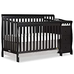 Dream On Me Brody 5-in-1 Convertible Crib and Changer, Natural