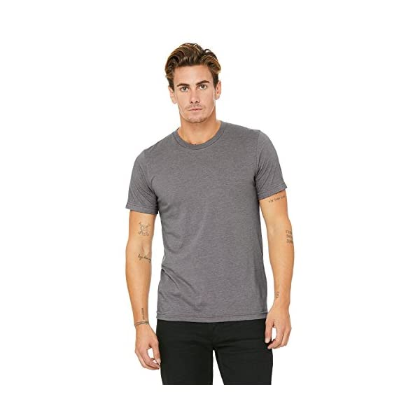 Bella Canvas Unisex Jersey Short Sleeve TEE, Deep Heather (Multi Pack)