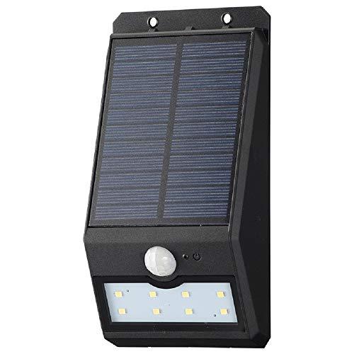 オーム電機 monban LEDセンサーウォールライト ソーラー 200lm 常夜灯付 ブラック LS-S120FN4-K 06-4228 OHM