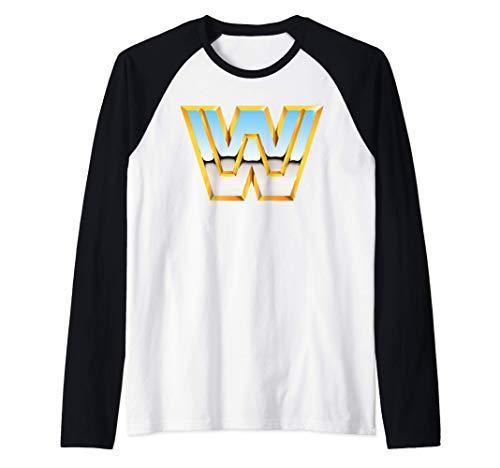 US WWE +Logo Classic 01 Camiseta Manga Raglan