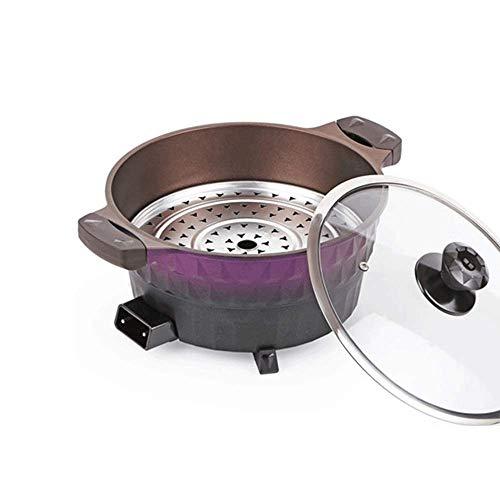 Estufa de leña arroz con leche Olla especial Arrocera Arrocera multifunción eléctrico Fryi Pan fuego de madera Arrocera Arrocera (Color: Verde) kyman (Color : Purple)