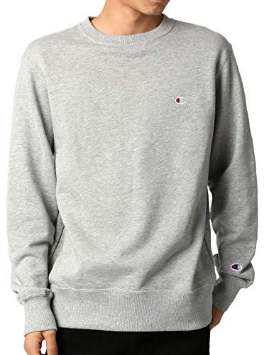[チャンピオン] トレーナー 長袖 裏毛 綿100% 定番 クルーネック ワンポイントロゴ刺繍 クルーネックスウェットシャツ C3-Q001 メンズ オックスフォードグレー L