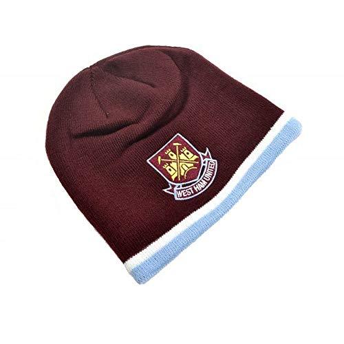 West Ham United FC Jugendliche Classic Wappen Beanie (Einheitsgröße) (Weinrot/Himmelblau)