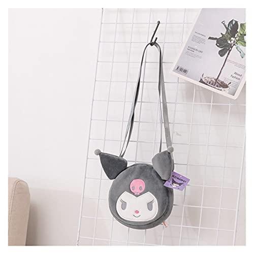 LINLIN Japanische Anime Umhängetasche Kawaii Mode Weibliche Tasche Weiche Plüsch Umhängetasche Cartoon Geburtstagsgeschenke für Mädchen lila grau schwarz Sally ( Color : Gray , Height : 18x18x4cm )