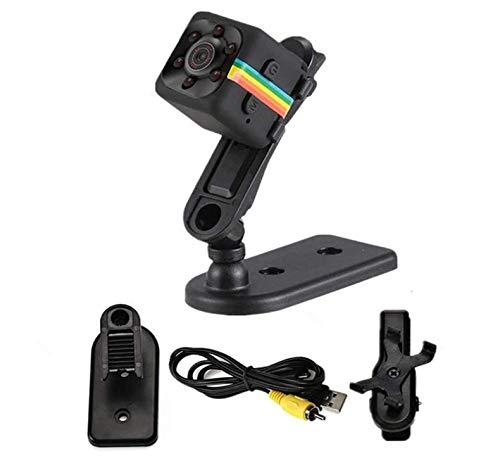 Marvotek Webcam Mini Spy Camera SQ11 HD Camcorder SQ8 SQ9 Upgrade Night Vision Mini Cam 1080P Sports Mini DV Voice Video Recorder for Home,Office,Car(Black)