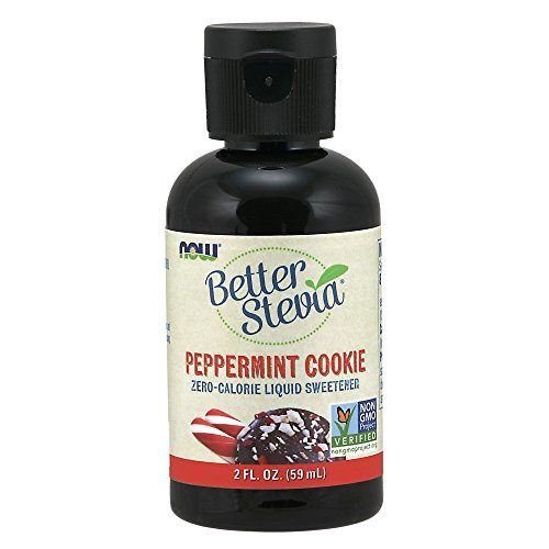 NOW Foods, Better Stevia, Liquid, Peppermint Cookie, Zero-Calorie Liquid Sweetener, Low Glycemic Impact, Certified Non-GMO, 2-Ounce