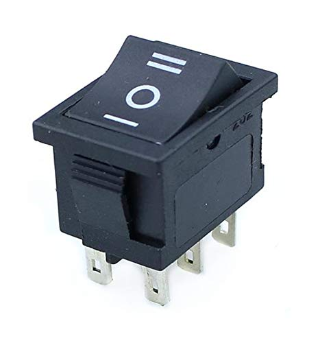 Yanqhua Interruptor basculante 5 x Mini Negro 3 Pines / 6 Pines de Encendido/Apagado/Encendido Rocker AC 6A / 250V10A / 125V (Color : 6 Pin On Off On, Size : Red 1)