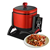 220V/50Hz Household Multi-Cooker,2200W/6.4QT Multifunctional Drum-Type Electric Stir-Fry to Cook Rice Vegetable Soup,Automatic Cooking Machine/Wok/Cooker Pot/Frying Pan For Chinese Food