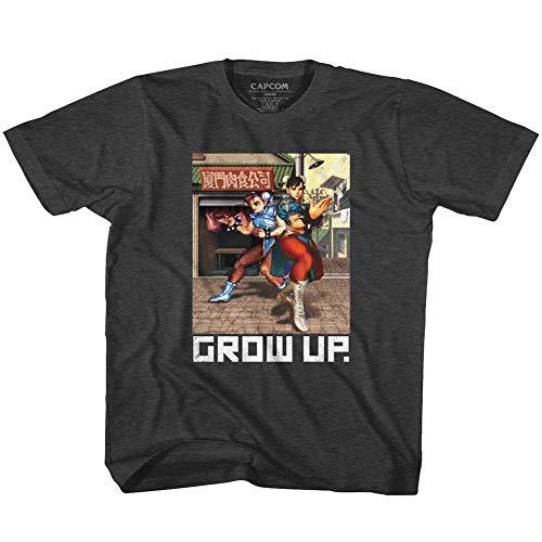 Street Fighter - - T-Shirt de développement de bébé Unisexe, 4T, Black Heather