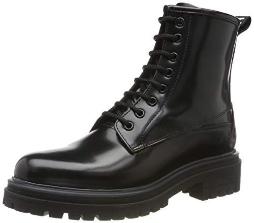 HUGO Alpha Bootie-C, Damen Combat Boots, Schwarz (Black 001), 41 EU
