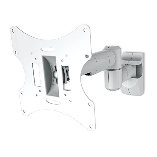 conecto CC50252 Wandhalterung für Fernseher bis 107cm (42 Zoll), ultraslim, neigbar, schwenkbar, ausziehbar, VESA 200, Doppelarm, weiß