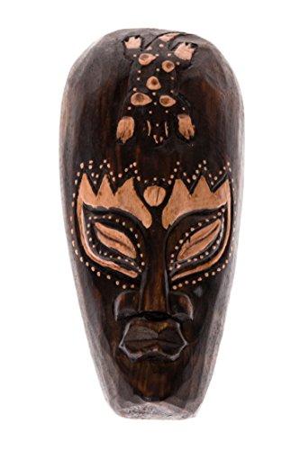 20cm Madera Maske Mascara Careta caratula Esculture Figura Africa Decoracion Gecko...
