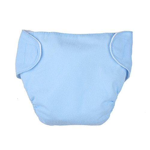 Luerme bambino neonato pannolino lavabile e riutilizzabile, regolabile cotone neonato intima pannolini in tessuto per 0–12mesi
