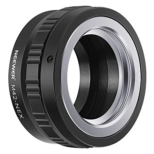 NEEWER 調節可能スクリューマウントアダプタ M42レンズ変換ソニーNEX Eマウントカメラ NEX-3 NEX-3C、アル...