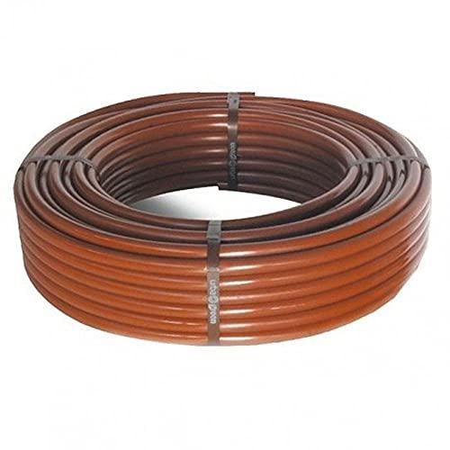 Manguera de riego Flexible con goteros Integrados 16 mm 0,33 m x 100 m, Color marrón
