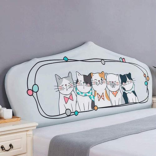 Pokrowiec na zagłówek łóżka z tkaniny Super miękka, zagęszczona tkanina ze stretchem Pokrowiec na zagłówek łóżka Pyłoszczelna narzuta na drewno Skóra Queen King Bed Head Dekoracyjn