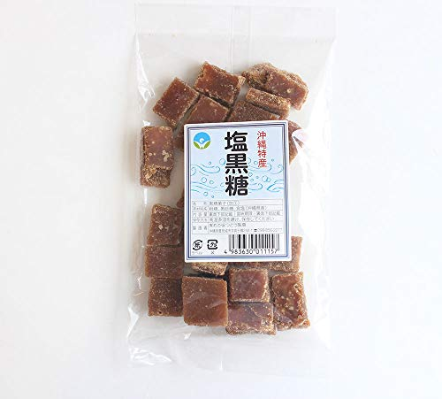 塩黒糖 (加工) 140g わかまつどう製菓 沖縄土産に最適 (12袋)