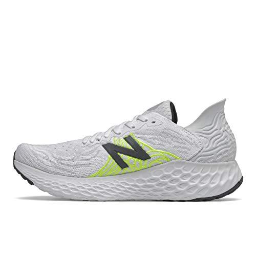 New Balance Women's Fresh Foam 1080 V10 Running Shoe, Light Aluminum/White/Lime Glo, 10