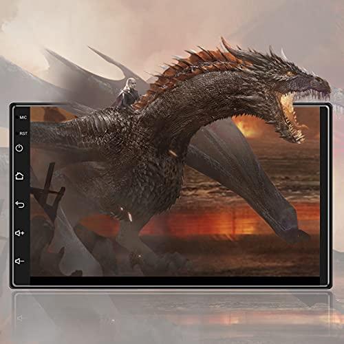 2021 Nuovo 7 Pollici [1G+16G] Android 9,1 Autoradio 2 DIN con HiFi+WiFi+Bluetooth+RDS+FM+AM+GPS Navigazione+ 1080P HD Touch Screen, Sistema Multimediale Digitale Internet da per Auto(DC-12V) …
