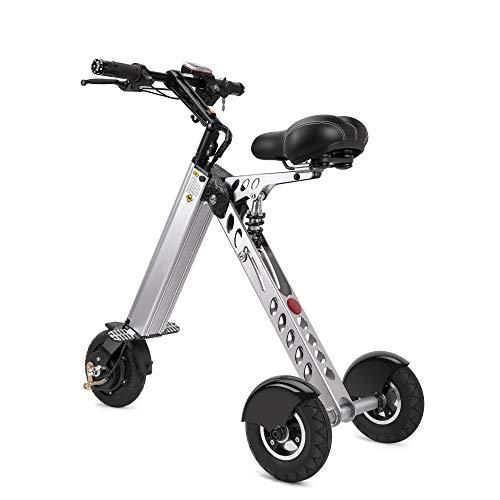 TopMate. Mini Tricycle de Scooter électrique ES30 | Interrupteur à clé 3 Vitesses | Essieu arrière Plus Long | pour l'assistance à la mobilité et Les Voyages