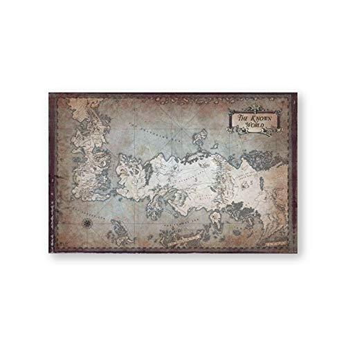 Karten Classic Tv Shows Bekannte Welten Leinwandbilder Karten Home Wandkunst Dekoration 42x60cm