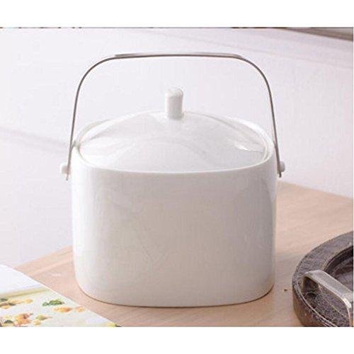 MXJ61 Bol à Soupe Grand Bol de Visage à la Maison avec Couvercle Soupe à Cuvette Sauce à la choucroute Pure au Pot de Vaisselle en céramique (Taille : D)