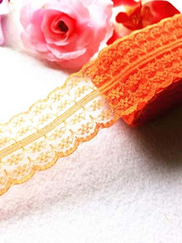Nieuw!10 meter mooi kantlint, 4,5 cm breed, doe-het-zelfkleding/accessoires/bloemenaccessoires, enz, Oranje, 10 meter