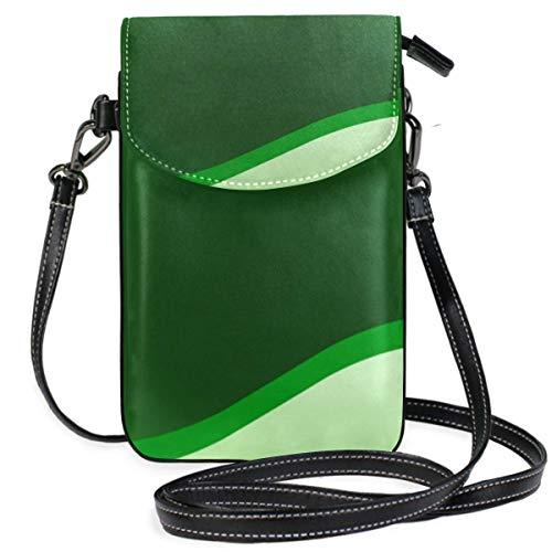 XCNGG Diseño de pancarta Monedero para teléfono celular verde lima que brilla intensamente para...