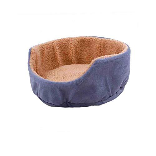 IUwnHceE Round Hundebett Soft-kätzchen Welpen Haus Winter Warm Haustiere Mat Sofa Für Kleine Hunde Grau Runde Form 1pc Grau
