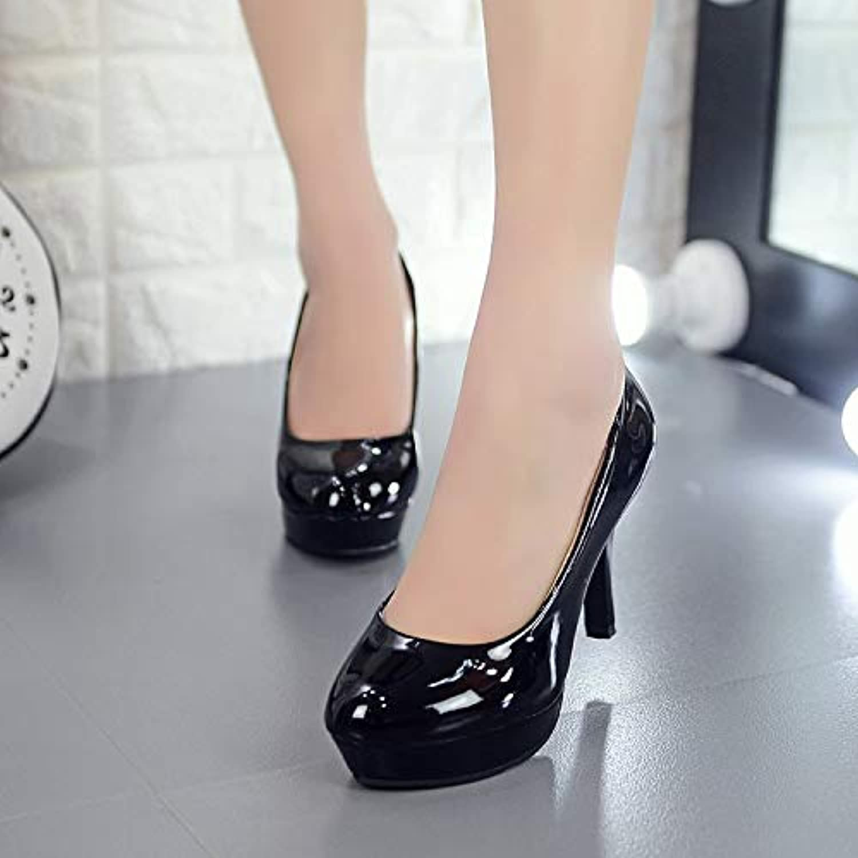 HOESCZS Damenschuhe Damenschuhe Frühling Und Herbst Einzelne Schuhe Damen Damen Hochhackige Schuhe Mit Wasserdichte Plateauschuhe 34 42 Spring Large Größe Schuhe  erste Antwort