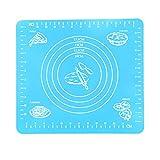 MERIGLARE 29x26cm Antiadherente Hoja de Silicona Fondant Hornear Pastelería Alfombrilla Rodante - Azul, Individual