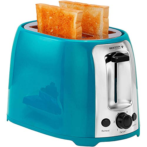Toaster with 7 Browning Levels, 2 Slice, (Teal)