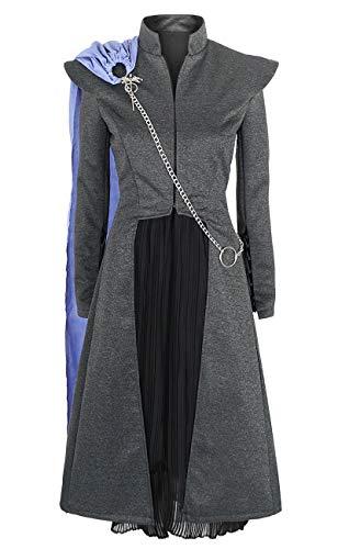KeySmart Cosplay Kostüm Mantel, Rock und Umhang von Daenerys Targaryen aus Staffel 7 Größe: S