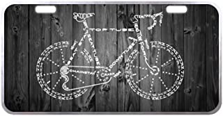 Bicycle With Wood License Plate-11.8
