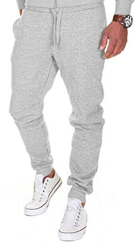 MERISH Jogginghose Herren Jogginganzug Jogger Männer Trainingshose Baumwolle Slim Fit 211 (L, 211 Grau)