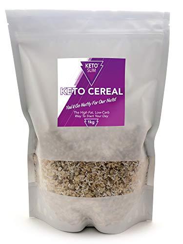 Keto Cereal Desayuno Bajo en Carbohidratos Sin Azúcar Añadido Alto en Grasas y Proteína Moderada - Sabor Delicioso Natural - Perfecto para la Dieta Keto - Apto para veganos- Sin Gluten ni Cereales 1KG