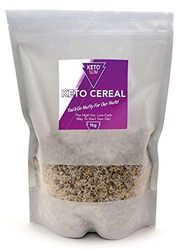 Keto Cereal Low Carb Breakfast No Added Sugar High Fat and Moderate Protein – Delicious Taste – Natural - Perfect for the Keto Diet – Keto and Vegan Friendly - Gluten and Grain Free by Keto Slim – 1KG