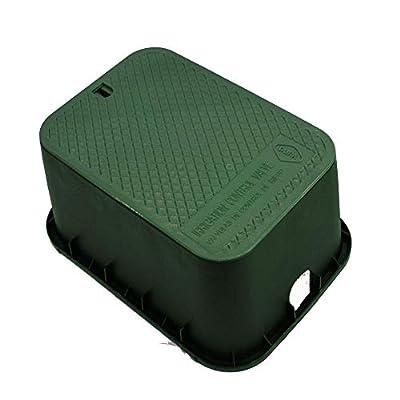 "Dura Plastic Products 15"" x 21"" x 12"" Deep Rectangular Valve Box Green Box-Green Lid - Replaces Carson 1220 - Engraved: Irrigation Control Valve by Dura Plastic Products"