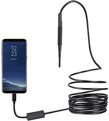 Kabelloses Otoskop, WiFi, 3-in-1-Ohr-Inspektionskamera, 3,9 mm, HD 720P, Ohrreinigungsendoskop, Professional, Ohrenschmalz-Entferner mit 6 verstellbaren LEDs, geeignet für USB- und Typ-C-Handys, 1.00V