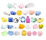 S & E TEACHER'S EDITION Mochi Squishy Toys 60Pcs, Cute Animals, Assorted Colors, Party Favors for Kids.