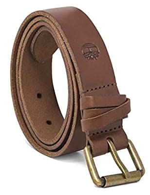 Timberland Women's Casual Leather Belt, Brown (Criss Cross), X-Large (35-39)