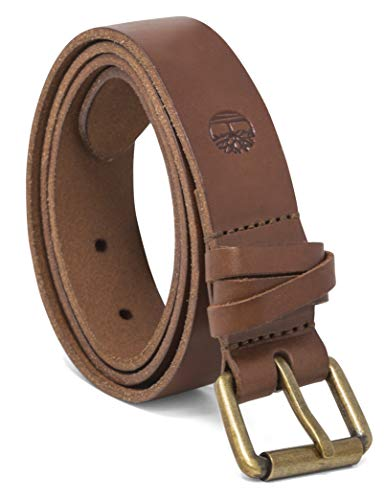 Timberland Women's Casual Leather Belt, Brown (Criss Cross), Large (33-37)