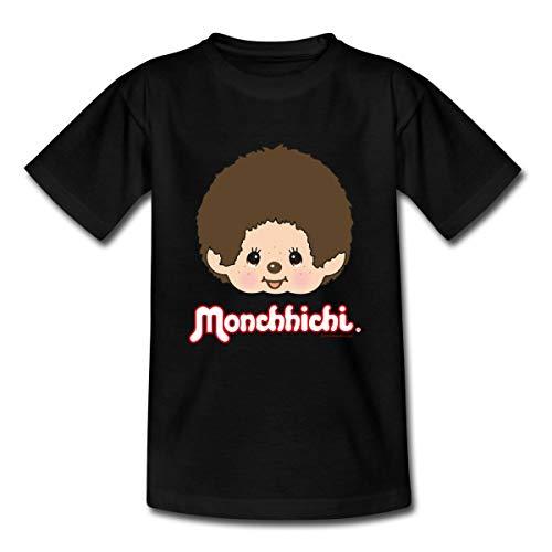 Monchhichi Portrait Gesicht Kinder T-Shirt, 110-116, Schwarz