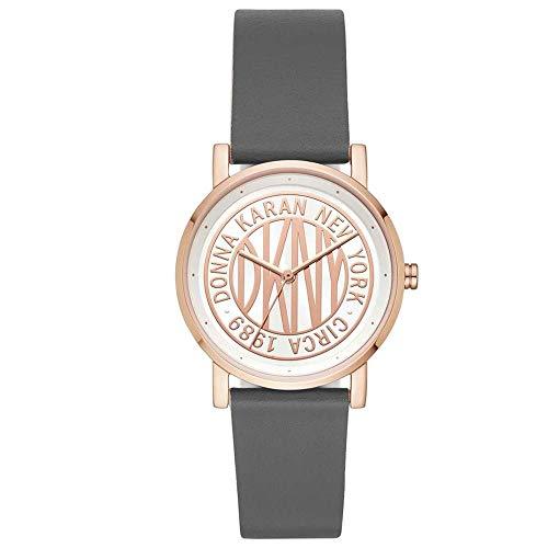 DKNY Damen Analog Quarz Uhr mit Leder Armband NY2764