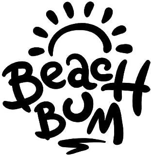 Beach Bum Ocean Vinyl Decal Sticker | Cars Trucks Vans SUVs Walls Cups Laptops | 5.5 Inch | Black | KCD2637B