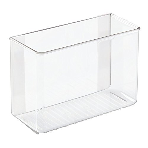 InterDesign AFFIXX Plastic Organizer, Peel-and-Stick Strong Self-Adhesive Organizer for Laundry and Utility Room, Closets, Cabinets, 8' x 3.5' x 5.5', Clear